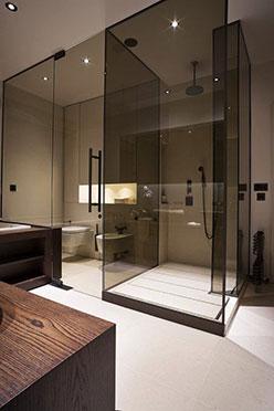 Mamparas de baño Madrid cristal tintado