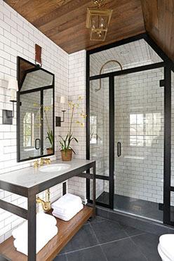 Mamparas de baño Madrid acabado metálico