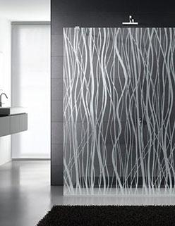 Mamparas de baño Madrid cristal grabado